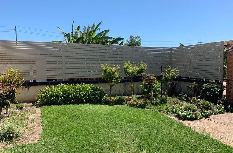 Backyard with nice slats